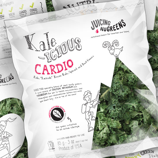 Juicing NuGreens Packaging