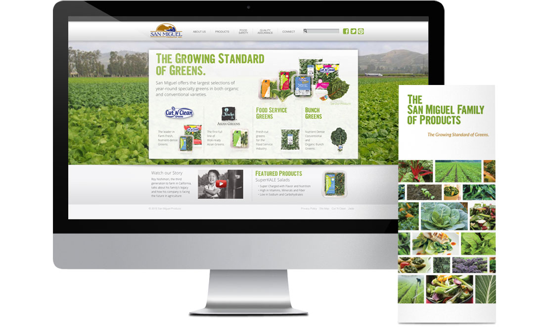 San Miguel Produce Website and Brochure