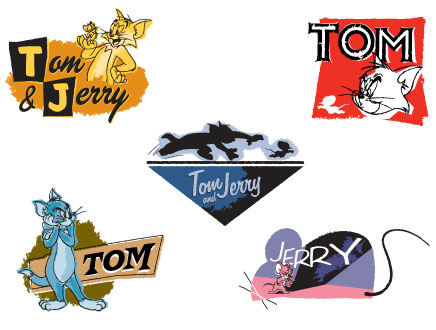 Tom and Jerry styleguide logos